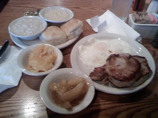 Cracker Barrel: SAT morning breakfast.