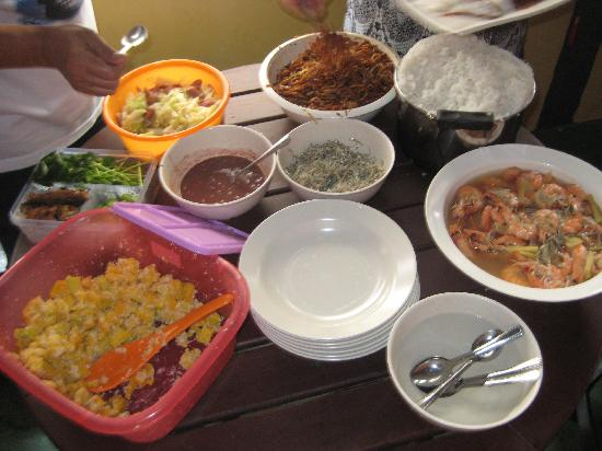 Wo Jia Lodge: guest cooking