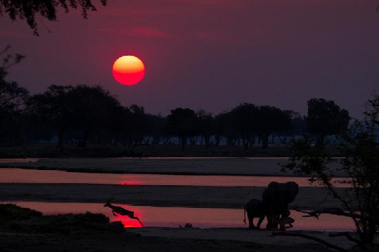 Camping Sites at Mana Pools National Park : Sunsets to die for