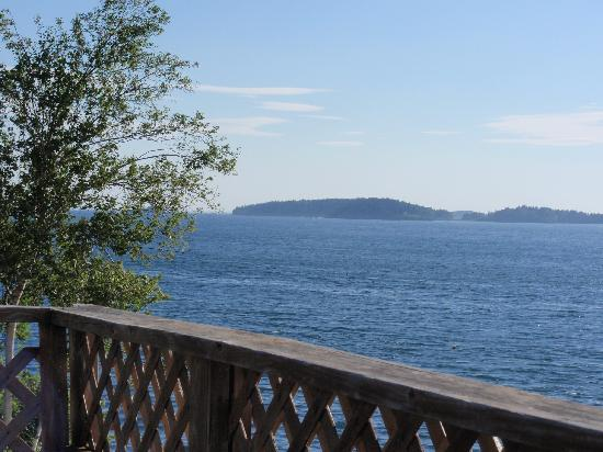 Sea Escape Cottages: view from the deck by the water