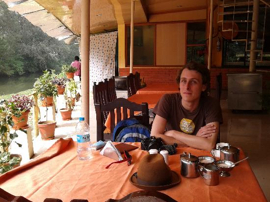 Archana Residency Munnar: i am at river side restaurant