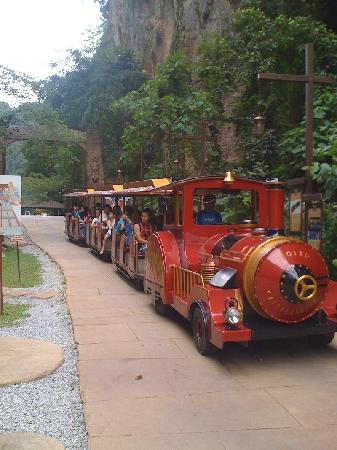 Lost World Of Tambun: Tractor-train ride. Wish it is using battery instead of diesel though for better environmental