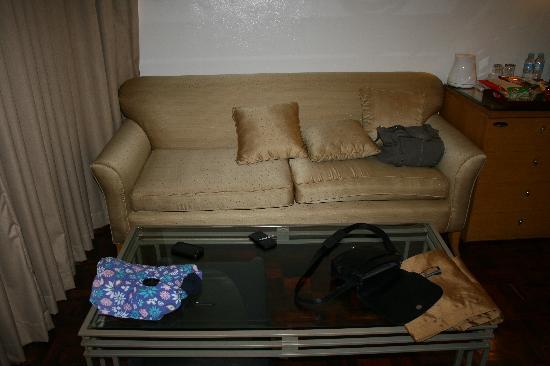 โรงแรมซิตี้ การ์เด้น สวีท: The couch in the room