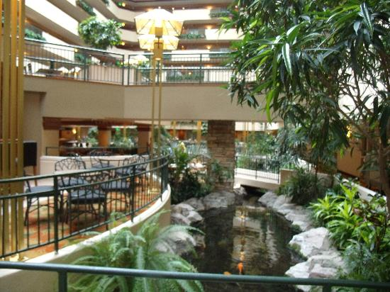 part of the beautiful atrium picture of embassy suites. Black Bedroom Furniture Sets. Home Design Ideas
