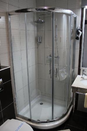 Hotel Prag: Shower in a single room