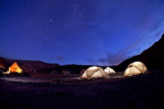 Ait Bougmez Valley : high atlas/ mgoun camping night