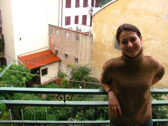 Bed & Breakfast Leopoldo: на балконе