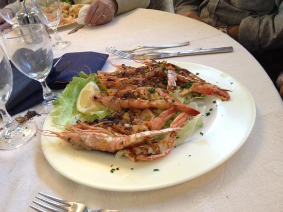 Lissone, Italy: Gamberoni alla griglia