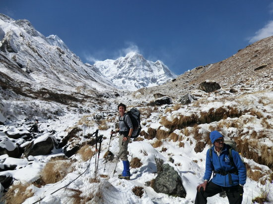 Alpine Adventure Club Treks & Expedition - Mountain Flight in Nepal : On the way to Annapurna Base Camp