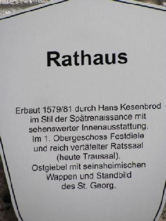 Townhall: plaque