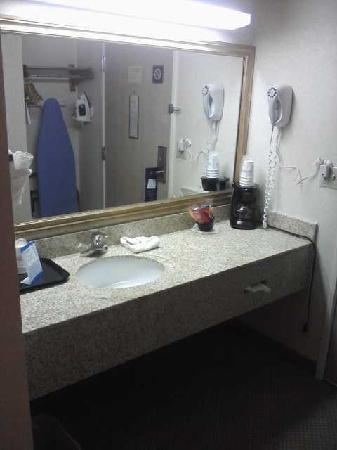 Baymont Inn & Suites Grand Rapids Airport: Large lav area outside of bathroom
