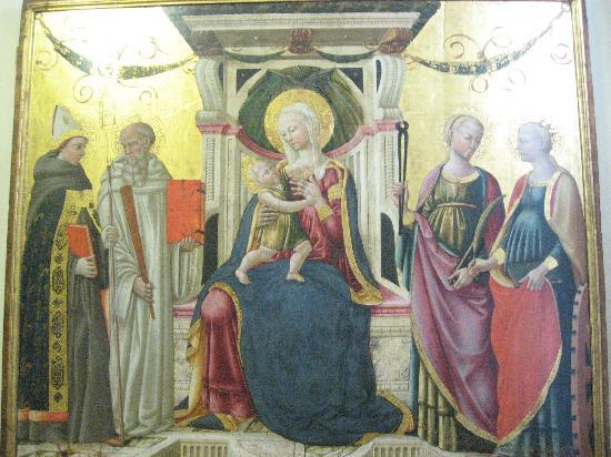 Cenacolo di Sant'Apollonia: Maesta by Neri di Bicci
