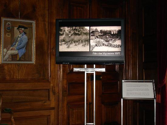 Musee de la Confrerie: Ausstellungsraum mit Videofilm