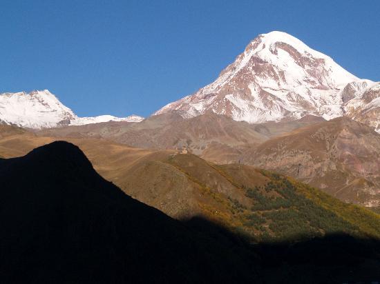 Mount Kazbek: view from Lela's Guesthouse