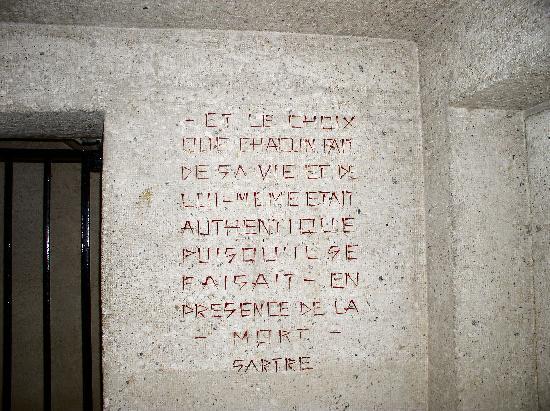 Mémorial des Martyrs de la Déportation : Jean-Paul Sartre Quote