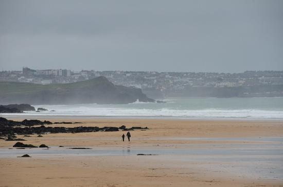 Watergate Bay from the Beach Hut