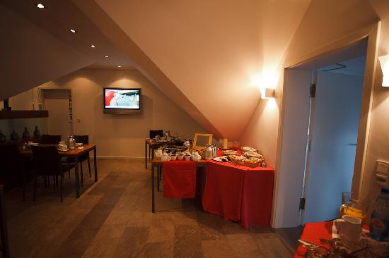 Vinotel Augustin: Sala colazione