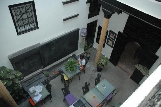 Riad7 : patio vue de tout en haut