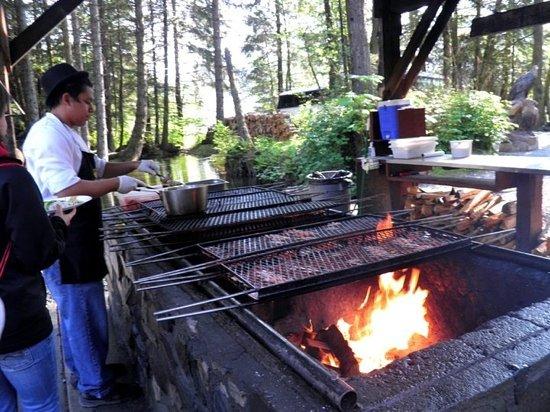 Gold Creek Salmon Bake: grilled salmon