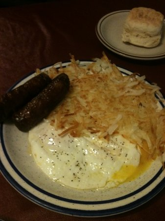 Twin Wheels Cafe: Sausage and egg breakfast