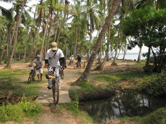 MuddyBoots Vacations - Day Trips: Crossing streams in Neeleshwaram