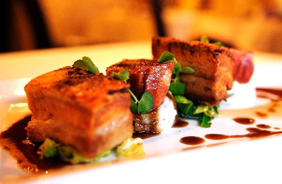 The Bon Restaurant & Wine Bar: Our Pork dish