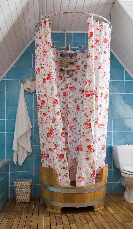 Catherine's Vineyard Cottages: shower at the Kis Alma