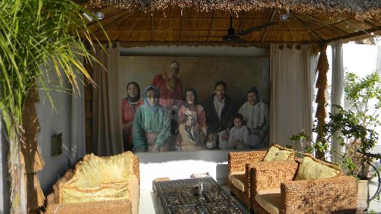 En la terraza del Riad Aguaviva