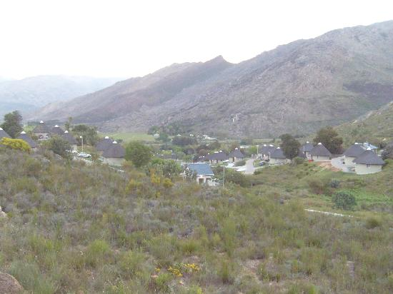 Rawsonville, South Africa: View of the valley from Slanghoek Villas