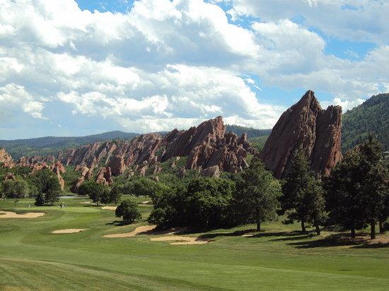 Arrowhead Golf Club: View from a teebox