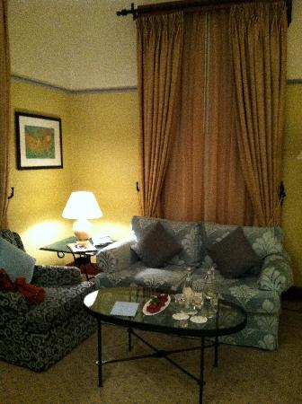 Four Seasons Hotel Istanbul at Sultanahmet : Sitting area of a suite.