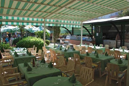 Hôtel Agadir Beach Club : Le resto terrasse du déjeuner