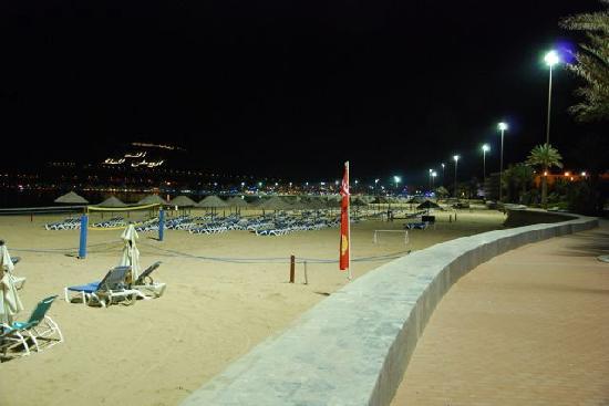 Hôtel Agadir Beach Club : digue ( fortement éclairée ! )