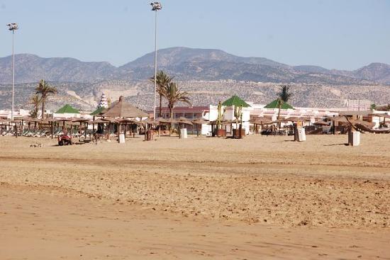 Hôtel Agadir Beach Club : l'hôtel vu de la plage
