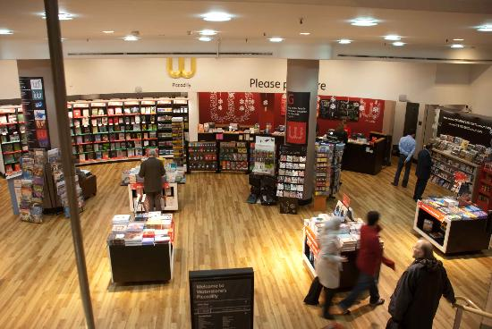 Waterstone's Booksellers Ltd: The roomy interior of Waterstones
