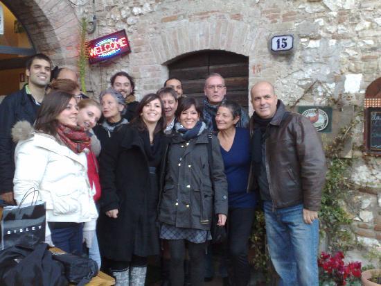 La Gallina liberata: gruppo - Roma-Viterbo-Firenza