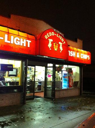 Redd Light Fish & Chips: Front of Redd Light Fish-n-chips