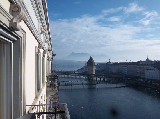 Hotel des Balances: The view from the room