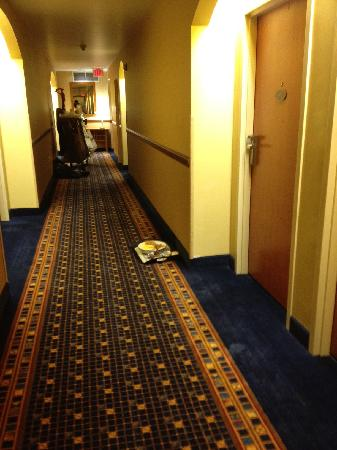 Radisson Hotel Cleveland - Gateway: 28 hours later, dishes still in the hall.