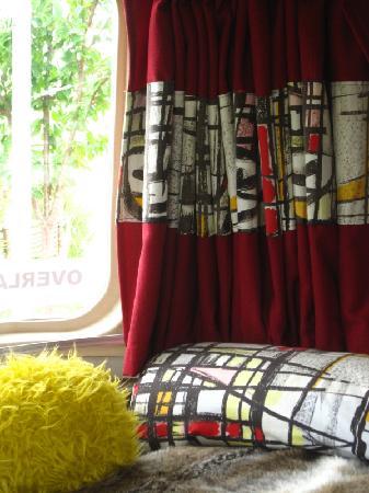 Belrepayre Airstream & Retro Trailer Park: belrepayre retro camping - details of fabrics