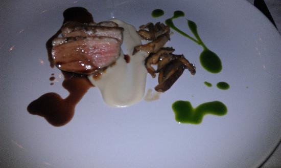 The Inn at Vaucluse Spring: Hoisin Glazed Duck Breast,  Cauliflower Puree, Shiitake Mushrooms,  Blackberry Demi Glace
