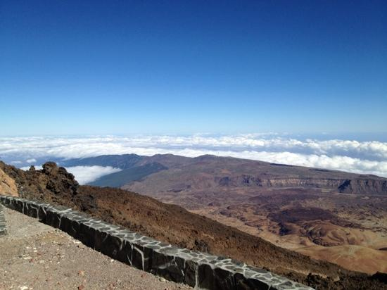 Teide National Park, Spain: a view from the summit.