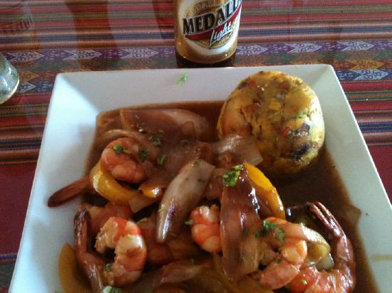 Ceviche Hut : mofongo camarones (shrimp)