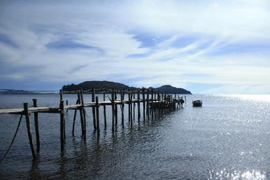 Isla Suasi Hotel : Mini puerto para llegar a la Isla