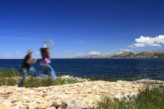 Isla Suasi Hotel : Disfrutando en la altura!