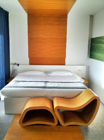 Montaperti Hotel: The bed in Superior Room