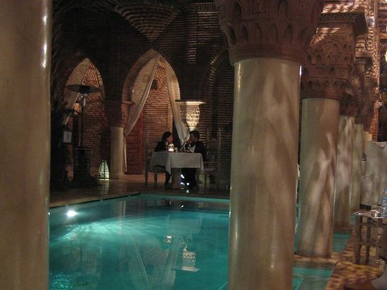 La Sultana Marrakech: View from my table.  Glamorous Whispers...
