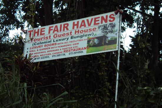The Fair Havens: Road sign