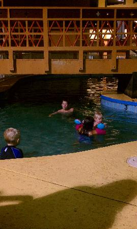 Ramada Kearney: This is the pool, the kids only stayed in for a couple mins b/c it was so cold and dark