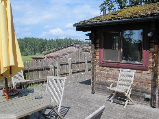 Juniper Lane Guest House: the deck and the beautiful view